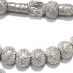 Turkish Pure Silver Mesh Islamic Prayer Beads Tasbih 35 gram detail