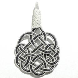 Turkish Pure Silver Scourge Mesh Filigree Pendant Oxidized 4.1 gram 5 cm