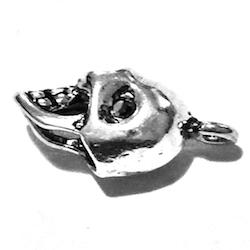 Sterling Silver Charm Pendant Skull 17 mm 1.7 gram