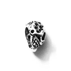 Sterling Silver Charm Pendant Skull 12 mm 2 gram
