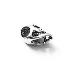 Sterling Silver Charm Pendant Skull 13 mm 1.4 gram