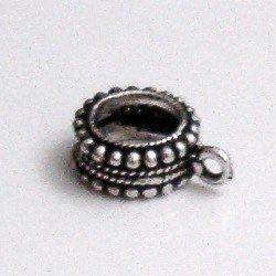 Sterling Silver Rondelle Spacer Bead 1 cm 1.6 gram