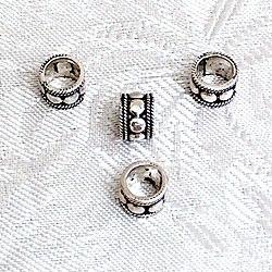 Sterling Silver Spacer Bead Rondelle 7 mm 1.1 gram