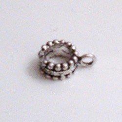 Sterling Silver Rondelle Spacer Bead 8 mm 1 gram