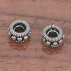 Silver Spacer Rondelle 8 mm 1 gram