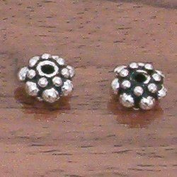 Silver Spacer Beads 8 mm 1 gram