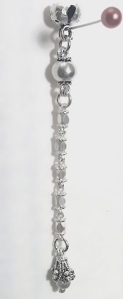 Sterling silver top attachment for tasbih 5-7 mm 7 cm