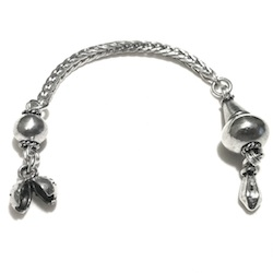 Sterling silver top attachment for tasbih 8-10 mm 105 mm