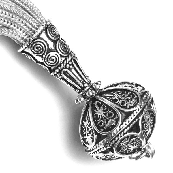 Turkish Sterling Silver Tassel 11.5 cm 25.5 gram
