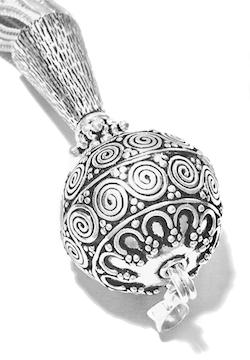 Turkish Sterling Silver Tassel 12.5 cm 31 gram detail