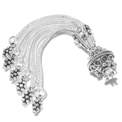 Sterling Silver Bead Tassel 6 cm 8 gram