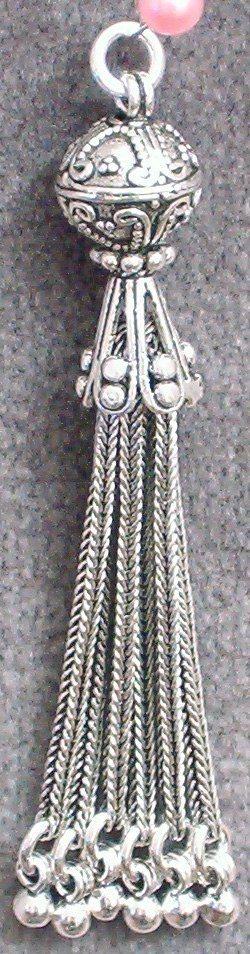 Sterling Silver Bead Tassel 65 mm 8 gram
