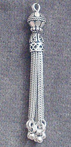 Sterling Silver Bead Tassel 5 cm 5.5 gram