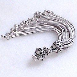 Sterling Silver Tassel 85 mm 15 gram