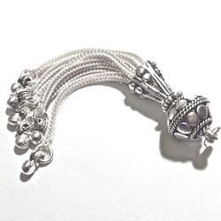 Sterling Silver Bead Tassel 5 cm 7.5 gram