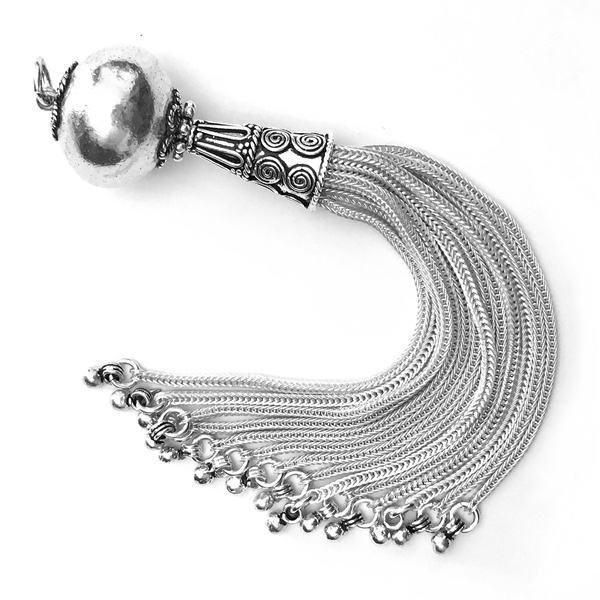 Turkish Sterling Silver Tassel 11.5 cm 24 gram