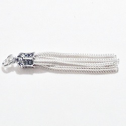 Sterling Silver Simple Tassel 35 mm 2.3 gram