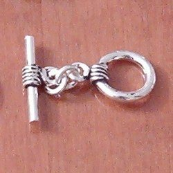 Sterling Silver Toggle Clasp 12 mm 2.8 gram