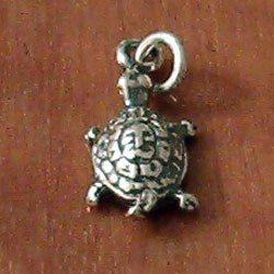 Sterling Silver Charm Tortoise 18 mm 1.1 gram
