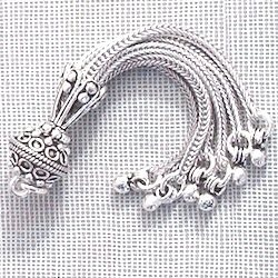 Sterling Silver Bead Tassel 7.5 gram 7 cm