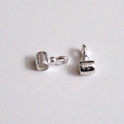 Sterling Silver Tubular Connector 7-3 mm 1 gram