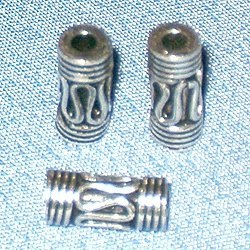 Sterling Silver Tubular Bead 4-9 mm 1.6 gram