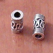 Sterling Silver Tubular Bead Spacer 5-9 mm 1 gram