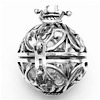 Turkish Sterling Silver Perfume Diffuser Locket 32 mm ID # 6916