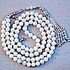 Mother of Pearl Islamic Prayer Beads Tasbih 99 w/silver ID # 1073