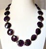 Amethyst Necklace with Sterling Silver Beads 50 cm ID # 6626