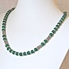 Sterling Silver Matte Green Agate Necklace 20 inch ID # 6629