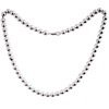 Full Sterling Silver Beaded Necklace 34.4 gram 18 inch ID # 5911
