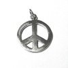 Sterling Silver Peace Charm Pendant 25 mm 2.9 gram ID # 6449