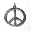 Sterling Silver Peace Charm Pendant 34 mm 5.1 gram ID # 6450