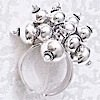 Full Sterling Silver Cluster Ring Sz 7 N 14 Fits All 16 gram ID # 4588
