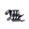 Sterling Silver Snake Rondelle Bead Spacer 10 mm 2.2 gram ID # 6425
