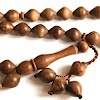 Rose Wood Islamic Prayer Beads Tasbih 33 Shiny ID # 6588