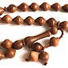 Rose Wood Islamic Prayer Beads Tasbih 33 Shiny ID # 6589