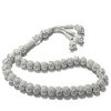 Turkish Pure Silver Mesh Islamic Prayer Beads Tasbih 27 gram ID # 6322