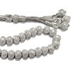 Turkish Pure Silver Mesh Islamic Prayer Beads Tasbih 35 gram ID # 6323