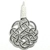 Turkish Pure Silver Scourge Mesh Filigree Pendant Oxidized 4.1 gram 5 cm ID # 6179
