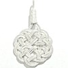 Turkish Pure Silver Scourge Mesh Filigree Pendant 3.1 gram 48 mm ID # 6176