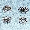 Lot of 7 Silver Bead Cap Spacer 6 mm 1 gram ID # 3105