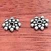 Lot of 3 Sterling Silver Spacer Bead 8 mm 1.2 gram ID # 3062