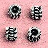 Lot of 3 Sterling Silver Spacer Beads Rondelle 5 mm 1.14 gram ID # 2972