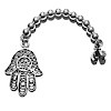 Sterling silver tasbih top with Hamsa 4 gram 85 mm ID # 6714