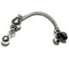 Sterling silver top attachment for tasbih 5-7 mm 55 mm ID # 6136