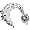 Turkish Sterling Silver Tassel 6 in 15 cm 45 gram ID # 6742
