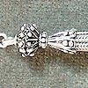 Turkish Sterling Silver Bead Tassel 65 mm 7 gram ID # 4674
