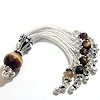 Sterling Silver Tassel with Tiger Eye beads 75 mm ID # 6209